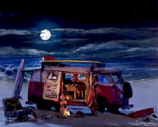 Volkswagen VW Bus Microbus Van Surf Beach Cruiser
