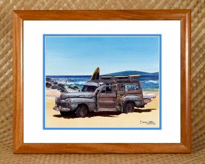 Bathroom Surf Surfing Theme Beach Decor - Ford Woody
