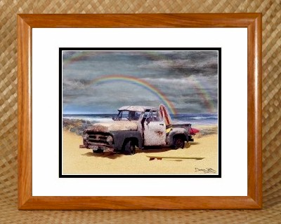Tropical Beach Theme Bathroom Decor - Ford Pickup