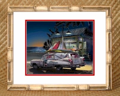 Hawaii Hawaiian Theme Bedroom Decor 59 Cadillac Hearse