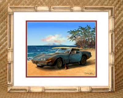 Tropical Beach Theme Kids Girls Room Decor Corvette Stingray